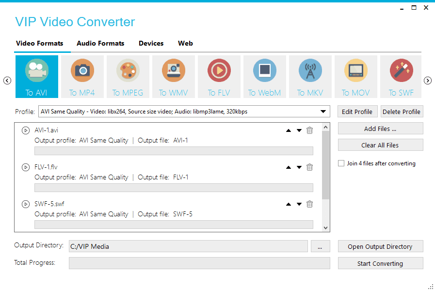 Click to view VIP Video Converter 8.0.9 screenshot